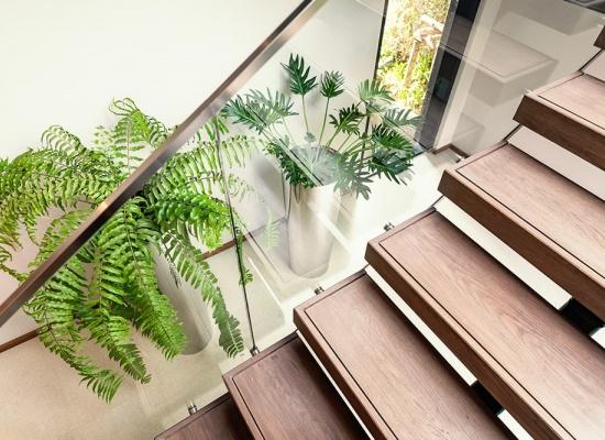 Escalier intérieur matériau