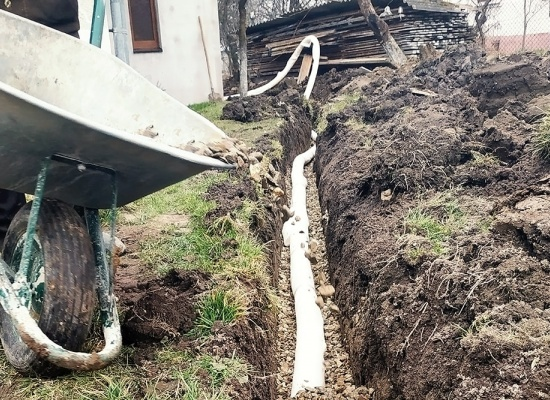 Devis pour des travaux de drainage